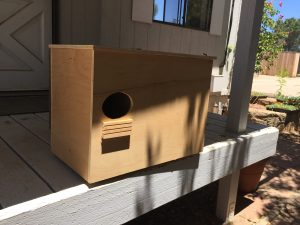 Barn owl nest box construction